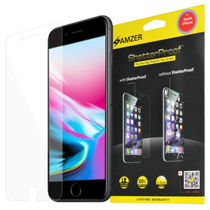 AMZER ShatterProof Screen Protector for iPhone 8 - Front Coverage