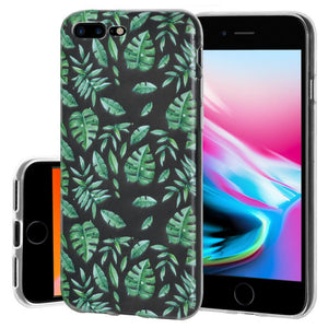 Protective Cover Soft Gel Shockproof TPU Skin Case Woodland Fern for iPhone 8 Plus - Clear