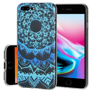 Ultra Thin Protective Cover Soft Shockproof TPU Skin Case Mandala Ocean for iPhone 8 Plus - Clear