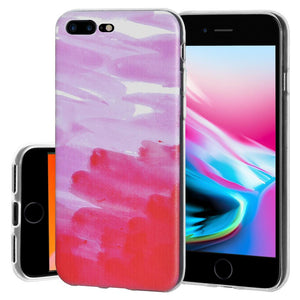 Ultra Thin Protective Cover Soft Shockproof TPU Skin Case Abstract Pink for iPhone 8 Plus - Clear