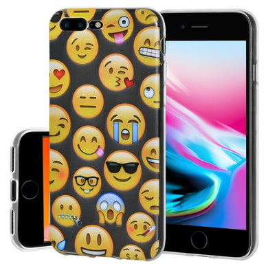 Ultra Thin Protective Cover Soft Shockproof TPU Skin Case Mixed Emotions for iPhone 8 Plus - Clear