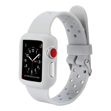 AMZER 38MM High Quality Silicone Watch Band Strap - Grey for Apple Watch Series 1
