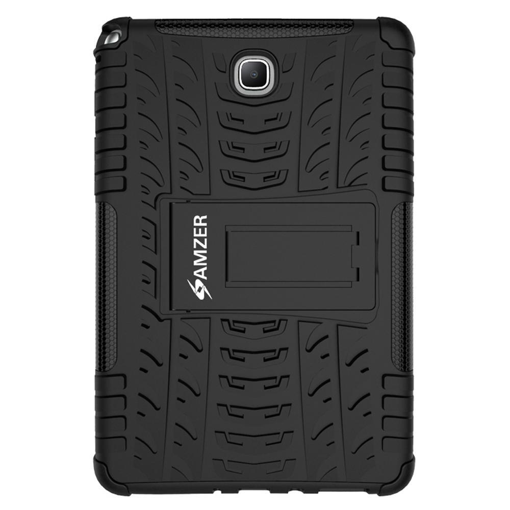 AMZER Shockproof Warrior Hybrid Case for Samsung Galaxy Tab A 8.0 - Black/Black
