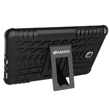 Load image into Gallery viewer, AMZER Shockproof Warrior Hybrid Case for Samsung Galaxy Tab A 8.0 - Black/Black