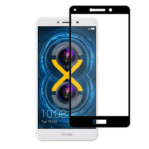 Premium Full Body Tempered Glass Edge2Edge Screen Protector - Black for Huawei Honor 6X 2016