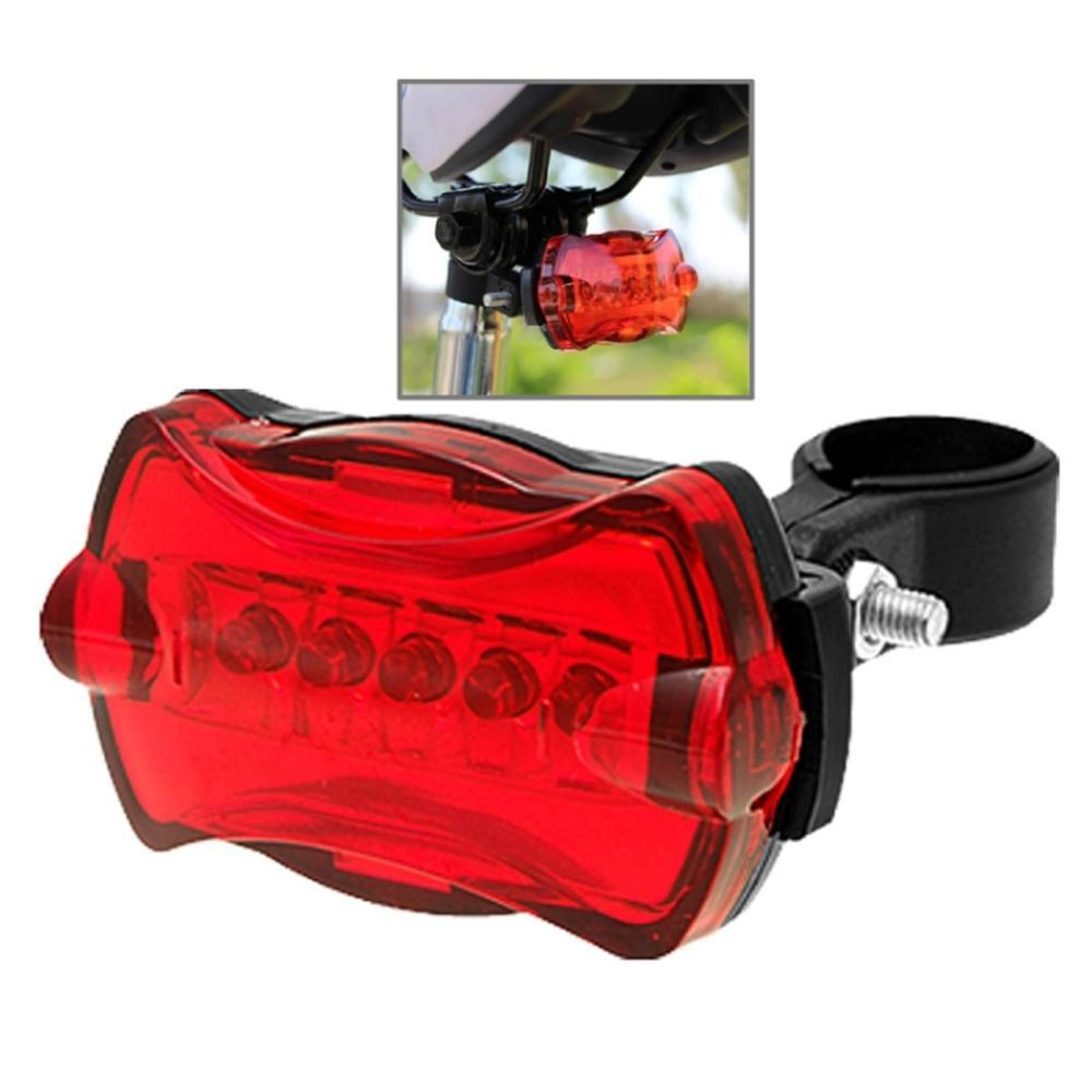 5 LED 7 Mode Bike Bicycle Rear Tail Safety Flash Light Lamp