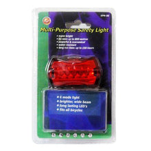 Load image into Gallery viewer, 5 LED 7 Mode Bike Bicycle Rear Tail Safety Flash Light Lamp