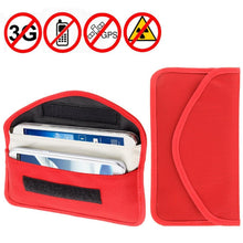 Load image into Gallery viewer, Amzer Anti-radiation, Anti-tracking Pouch EMF Protection Anti-spying GPS RFID Signal Blocker upto 6.3 inches