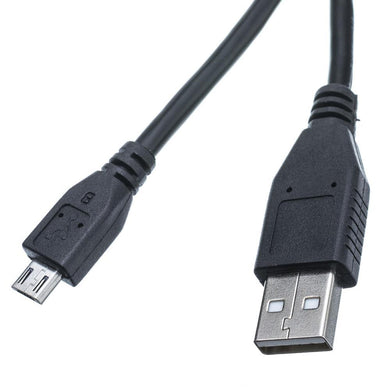 Amzer® Universal Micro USB to USB 2.0 Data Sync and Charge Cable 6 inch - Black