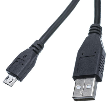 Amzer® Universal Micro USB to USB 2.0 Data Sync and Charge Cable 6 ft. - Black