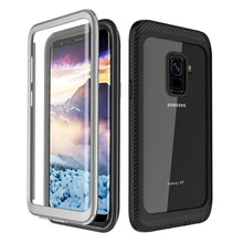 Load image into Gallery viewer, AMZER CRUSTA Full Body Hybrid Case for Samsung Galaxy S9 - Black