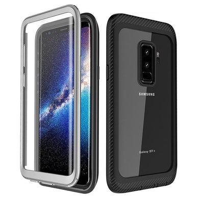AMZER CRUSTA Full Body Hybrid Case for Samsung Galaxy S9 Plus - Black