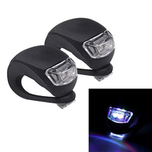 Load image into Gallery viewer, 2 PCS 3 Modes 2-LEDs Waterproof Bicycle Rear Light Headlights Warning Light - Black