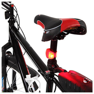 2 PCS 3 Modes 2-LEDs Waterproof Bicycle Rear Light Headlights Warning Light - Black