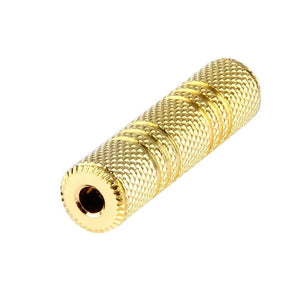 AMZER® Gold Plated 3.5mm Female to 3.5mm Stereo Jack Socket Adapter