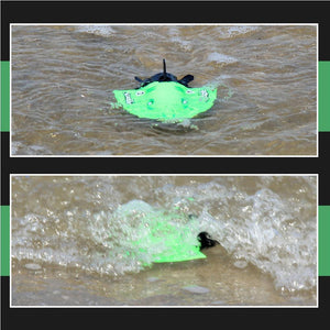 4-Channel 40MHz Rechargeable Mini Boat RC Submarine Children Water Toy with Remote Controller-Green