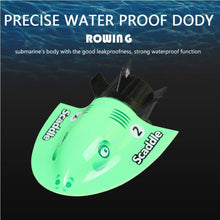 Load image into Gallery viewer, 4-Channel 40MHz Rechargeable Mini Boat RC Submarine Children Water Toy with Remote Controller-Green