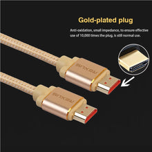 Load image into Gallery viewer, 1m HDMI 2.0 4K 1080P Aluminium Alloy Shell Line Head Gold-plated Connectors HDMI Male to HDMI Male A