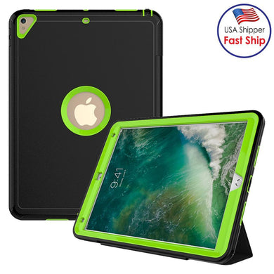 AMZER TUFFEN 3-layer Magnetic Protective Case with Smart Cover Auto-sleep & Awake Function - Light Green for Apple iPad Pro 10.5