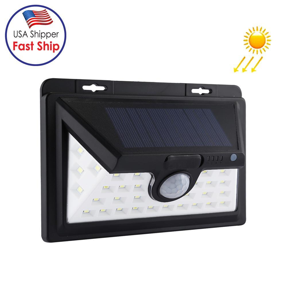 34 LEDs White Light IP65 Waterproof PIR Motion Sensor Solar Light SMD 2835 Energy Saving Lamp