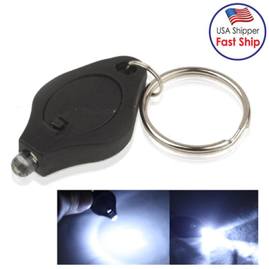 Mini Keychain LED Flashlight - Black