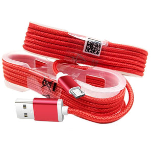AMZER 5 Feet Micro USB Data Sync Charge Braid Cable - Red