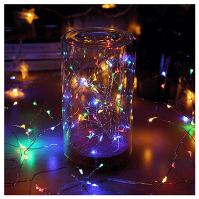 AMZER IP65 Waterproof Multi-Color Light Silver Wire String Light 50 LEDs Fairy Lamp Decorative Ligh