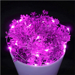 AMZER IP65 Waterproof Pink Light Silver Wire String Light 50 LEDs Fairy Lamp Decorative Light - 5m