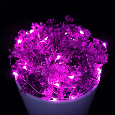 AMZER IP65 Waterproof Purple Light Silver Wire String Light 50 LEDs Fairy Lamp Decorative Light - 5