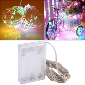 AMZER 10m IP65 Waterproof Silver Wire String Light 100 LEDs Fairy Lamp Decorative Light - Multi-Color Light