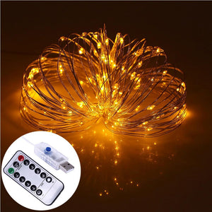 AMZER Decorative Warm White Light USB Silver Wire String Light 100 LEDs 8 Modes Fairy Lamp Light Wi