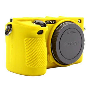 AMZER Soft Silicone Protective Case for Sony ILCE-6500 - Yellow