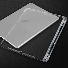 Load image into Gallery viewer, AMZER Shockproof TPU Chipped Edge Soft Protective Back Case With Pen Slots - Transparent for Apple iPad 9.7