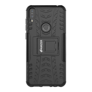 AMZER® Hybrid Warrior Case - Black/ Black for Asus Zenfone Max Pro M1