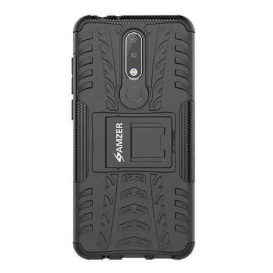 AMZER® Hybrid Warrior Case - Black/ Black for Nokia 5.1 Plus