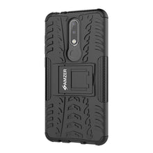 Load image into Gallery viewer, AMZER® Hybrid Warrior Case - Black/ Black for Nokia 5.1 Plus