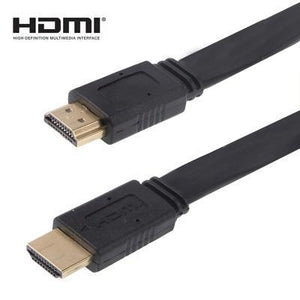 AMZER 1.5m HDMI to HDMI 19Pin Flat Cable, 1.4 Version, Support HD TV, XBOX 360, DVD Player - Black