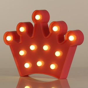 AMZER Creative Crown Shape Warm White LED Decoration Light, Party Festival Table Wedding Lamp Night Light
