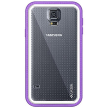 Load image into Gallery viewer, AMZER CRUSTA Rugged Case Purple on White Shell Tempered Glass with Holster for Samsung Galaxy S5 Neo SM-G903F