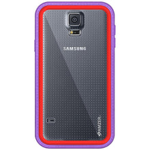 Load image into Gallery viewer, AMZER CRUSTA Rugged Case Purple on Red Shell Tempered Glass with Holster for Samsung Galaxy S5 Neo SM-G903F