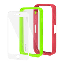 Load image into Gallery viewer, AMZER CRUSTA Rugged Case Pale Red on Green Shell With Tempered Glass for iPhone 6 Plus
