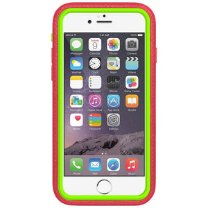 AMZER CRUSTA Rugged Case Pale Red on Green Shell With Tempered Glass for iPhone 6 Plus