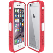 Load image into Gallery viewer, AMZER CRUSTA Rugged Case Pale Red on White Shell With Tempered Glass for iPhone 6 Plus