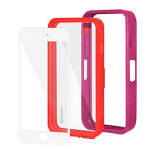 Load image into Gallery viewer, AMZER CRUSTA Rugged Case Magenta on Red Shell With Tempered Glass for iPhone 6 Plus