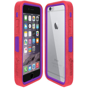 Amzer CRUSTA™ Rugged Case Pale Red on Purple Shell with Tempered Glass for iPhone 6s, iPhone 6