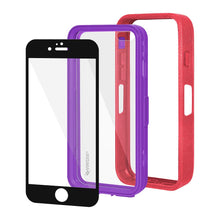 Load image into Gallery viewer, Amzer CRUSTA™ Rugged Case Pale Red on Purple Shell with Tempered Glass for iPhone 6s, iPhone 6