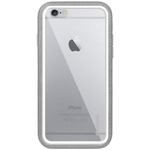 Amzer CRUSTA™ Rugged Case Grey on White Shell Tempered Glass for iPhone 6s, iPhone 6