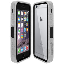 Load image into Gallery viewer, Amzer CRUSTA™ Rugged Case Grey on Black Shell with Tempered Glass for iPhone 6s, iPhone 6