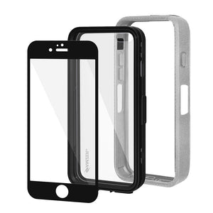 Amzer CRUSTA™ Rugged Case Grey on Black Shell with Tempered Glass for iPhone 6s, iPhone 6