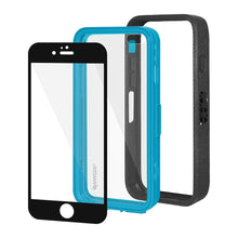 Load image into Gallery viewer, AMZER CRUSTA Rugged Case Black on Blue Shell With Tempered Glass for iPhone 6 Plus